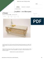 Muebles Hechos Con Palets - 100 Ideas Para El Hogar