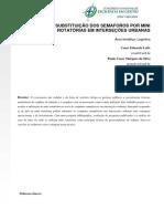Estudo Da Substituição Dos Semáforos Por Mini Rotatórias Em Interseções Urbanas