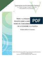 05.01.Cárdenes. Marx y La Producción Teórica. Apuntes Sobre La Importancia de Una Teoría Del Conocimiento en El Tránsito de La Economía a La Política