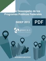 GESOC Resumen Ejecutivo Indep 2013