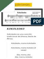 Kokoleoko Partitura y Letra