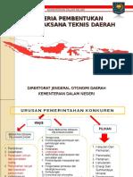 Kriteria Pembentukan Upt - 28 April