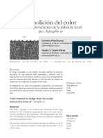 Remolición Del Color de Lodos Provenientes de La Ind Textil