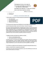 Preguntas Estudio de Mercado y Estudio Tecnico