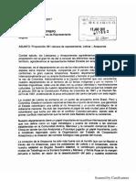 Carta de habitantes de Amazonas al Congreso de la República.
