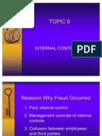Topic 6 Internal Control