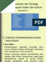 Kel. 1 - Perencanaan Dan Strategi Pemberdayaan Kader Dan Dukun