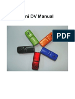 Mini Dv Manual Revised by Weekend Hobbies