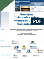 Memorias II Jornadas Sobre Interface Cerebro Computadora - Jaicc2009