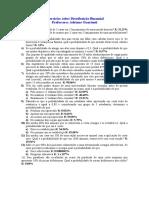 Exercícios sobre Distribuição Binomial.doc