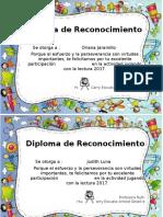 Diplomas de Reconocimiento 2