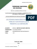 Monografia Sobre Estados Finacieros en El Sector Publico