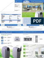 Airtemp Portable Air Conditioner 4pp A4 Brochure - PRICE