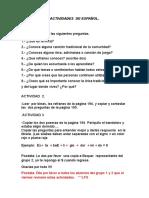 Actividades de Español Proyecto 11