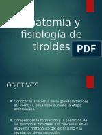 Anatomía y Fisiología de Tiroides Preliminar