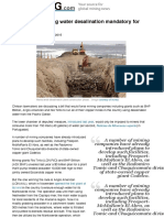 Chile mulls making water desalination mandatory for miners | MINING.com
