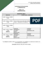 CALENDARIO EVALUACIONES 2° SEMESTRE 2017 TERCERO PROGRAMACION
