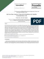 Bit Error Rate Analysis Using QAM Modulation for Satellit 2016 Procedia Tech