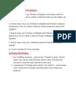 PnC Book Arrangement Problems