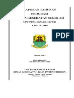 Laporan Tahunan Program Uks