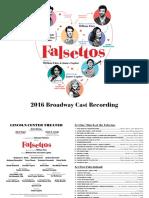Digital Booklet - Falsettos (2016 Broadway Revival Cast)