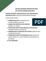 Acara Yudisium Akademi Kesehatan Gigi Kendari Tahun Ajaran 2016