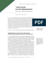 Políticas Urbanas Em Renovação_ Uma Leitura Crítica Dos Modelos Emergentes.