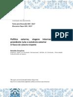 Gonçalves, Reinaldo - Viagens Internacionais Do Prpesidente Lula e Comércio Exterior (2017)