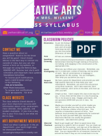 class syllabus- creative arts