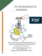 Ventajas y Deventajas Sistemas Producción T2C1