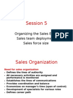 Session 5 Sales Organization