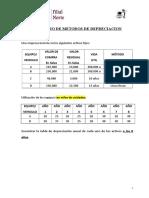 Ejercicio de Metodos de Depreciacion