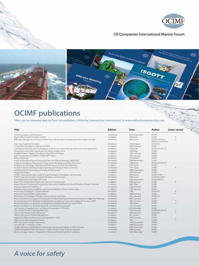 ocimf publications oil tanker ships rh scribd com jetty maintenance and inspection guide pdf free download sigtto jetty maintenance and inspection guide