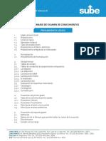 Temario Para La Evaluación Del Programa de Formación Para Adultos
