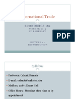 International Trade Econ182 Berkeley Lecture