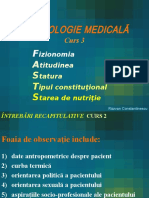 Curs 3 - Atitudine,Facies, Statura, Nutritia