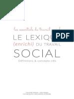 [EXTRAIT] Le lexique (enrichi) du travail social