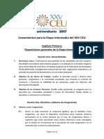 Lineamientos Mesas de Trabajo y Plenarias XXV CEU