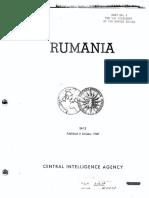 """Raportul """"Rumania"""" al CIA adresat președintelui SUA"""