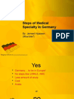 Steps of Medical Specialty in Germany by Jameel Hijazeen Moabite