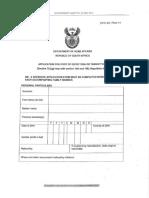 Visitor's Visa Application Form (DHA-84) (Form 11) (June 19, 2014)