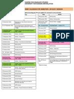 Kalendar Akademik Sem i Sesi 2016-2017 Master