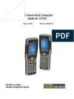 6560.NEO Hand-Held w. Windows CE 5.0 User Manual