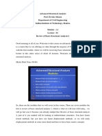 LECTURE 1 ADVANCE STRUCTURAL ANALYSIS