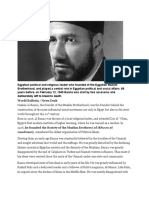 Egyptian Political and Religious Leader Who Founded of the Egyptian Muslim Brotherhood