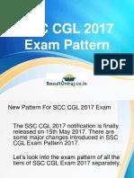 SCC CGL 2017 Exam Pattern