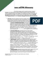 EdTPA Glossary - 2014 (1)
