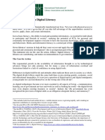 IFLA Digital Literacy Statement