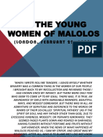 To the Young Women of Malolos