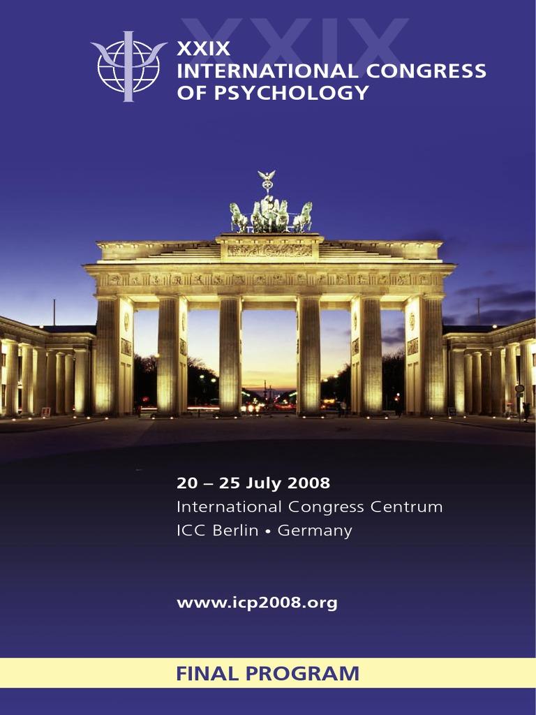 icp2008finalprogram Developmental Psychology Berlin